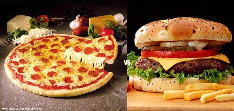 pizza and burger-pizza vs burger-Speed Food
