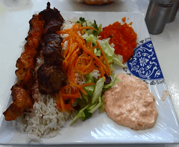 Charcoal Kebab with Rice