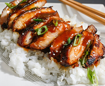 Teriyaki chicken with rice
