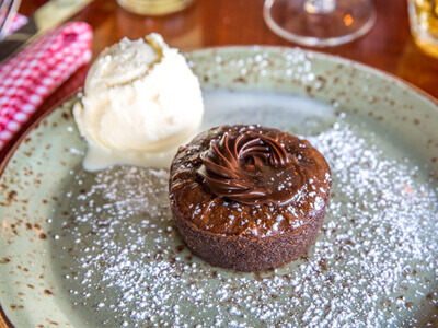 Warm Molten Chocolate Pudding